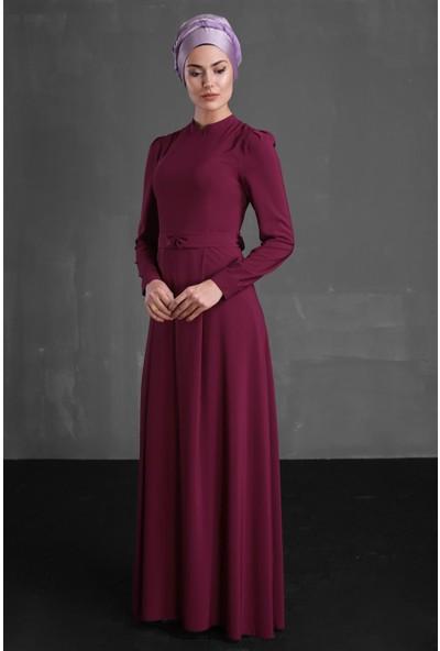 Delkash Aysine Elbise Fuşya