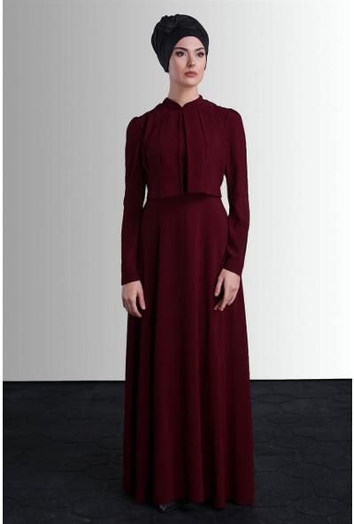 Delkash Behin Elbise Bordo