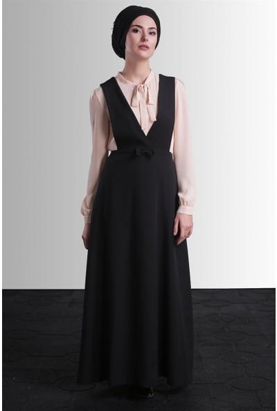 Delkash Efsun Salopet Elbise Siyah