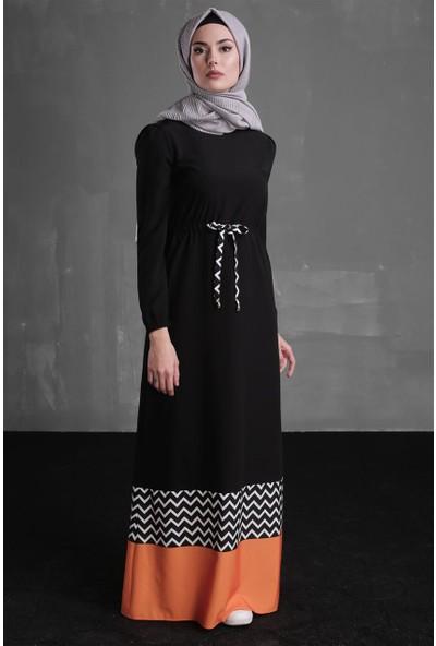 Delkash Gülfem Elbise Siyah