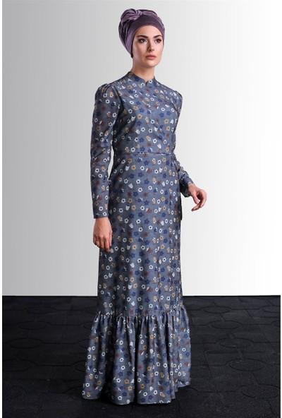 Delkash Hazen Elbise Gri