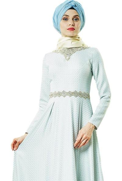 Fashion Night Abiye Elbise-Bebek Mavisi 2180-118