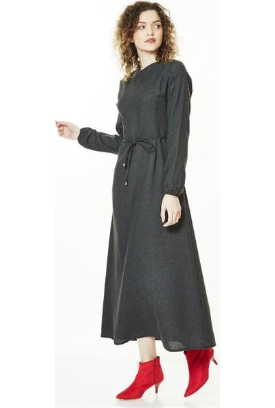 Butik Melina Elbise-Füme 2493-79