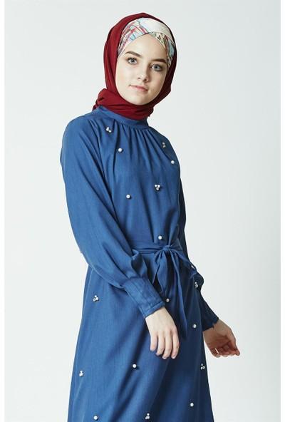 Mood Elite Elbise-İndigo BL7439-83