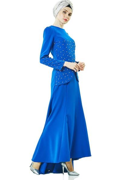 Lady Nur Abiye Elbise-Saks 3009-47