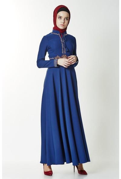Mood Elite Elbise-İndigo LR2509-83