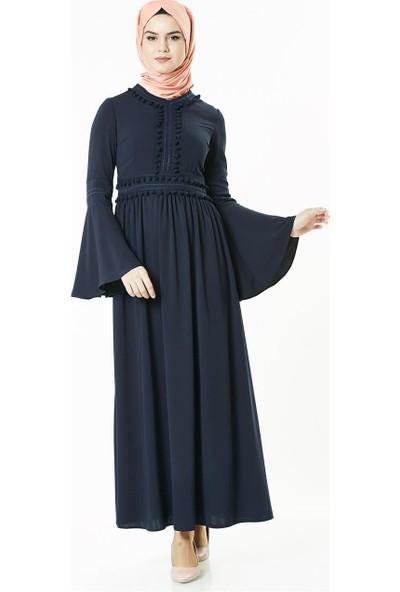 2niq Elbise-Lacivert 4004-17