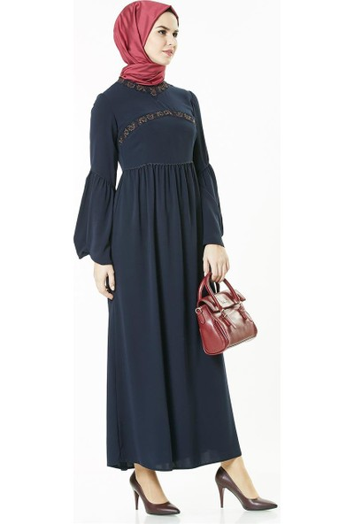 2niq Elbise-Lacivert 4005-17