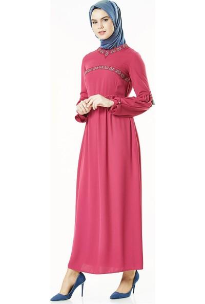 2niq Elbise-Fuşya 4005-43