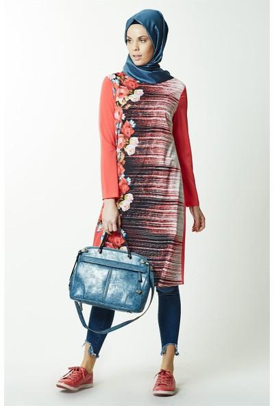 Lady Nur Tunik-Mercan 9003-71
