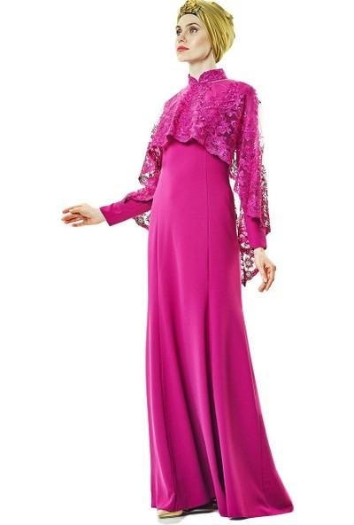 Fashion Night Abiye Elbise-Violet 2170-96