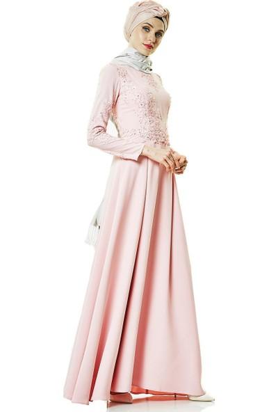 Fashion Night Abiye Elbise-Pudra 2179-41