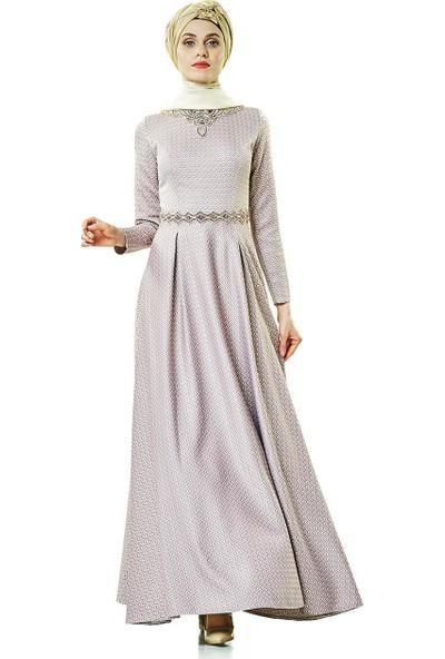 Fashion Night Abiye Elbise-Mürdüm 2180-51