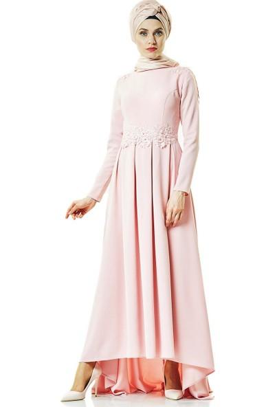 Fashion Night Abiye Elbise-Pudra 2188-41