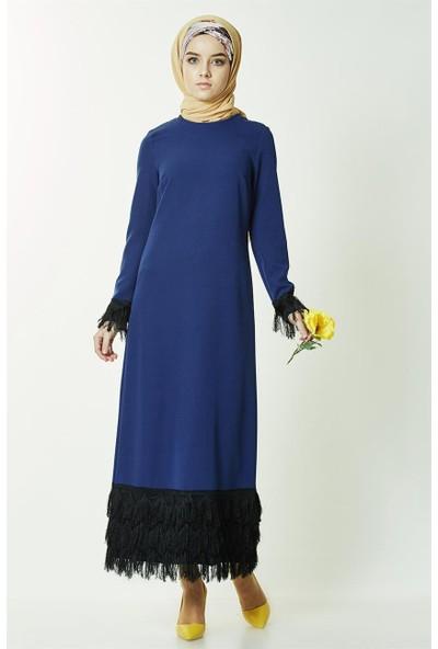 2niq Elbise-İndigo PN2561-83