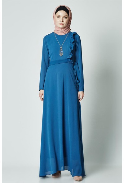 2niq Elbise-İndigo PN2585-83