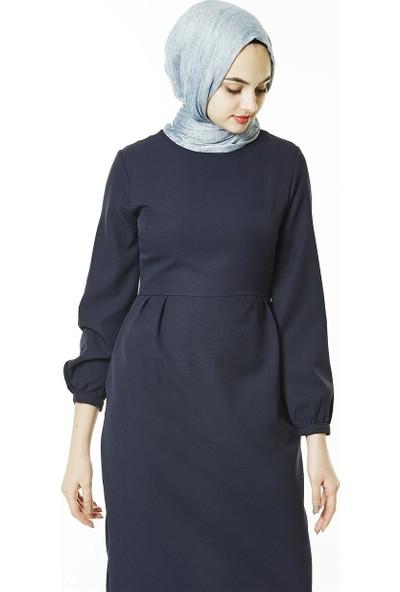 Butik Melina Elbise-Lacivert 2355-17