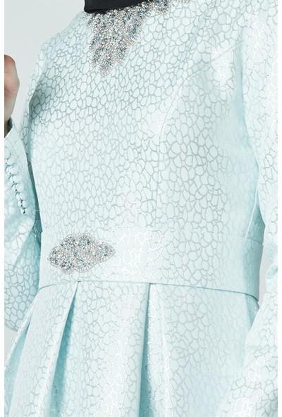 Nassah Abiye Elbise-Mint PN2579-24