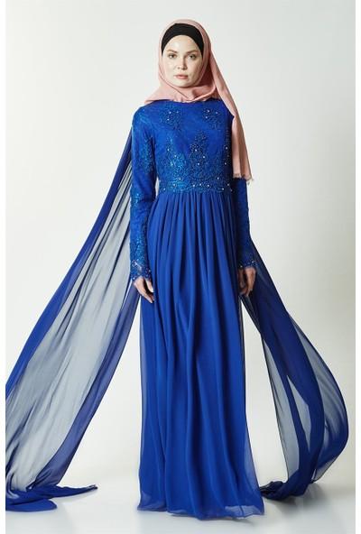 Nassah Abiye Elbise-Saks PN2530-47