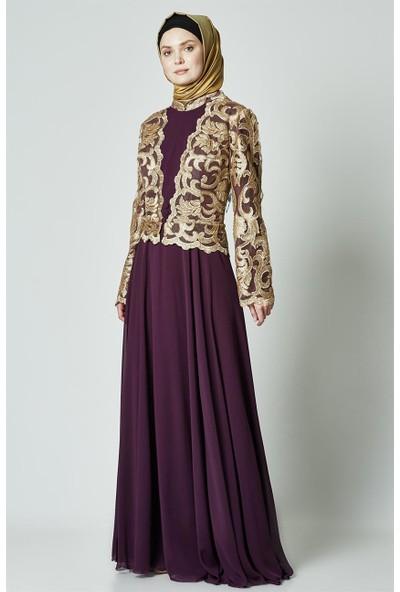 Sinanlar Elbise-Mor 172-45