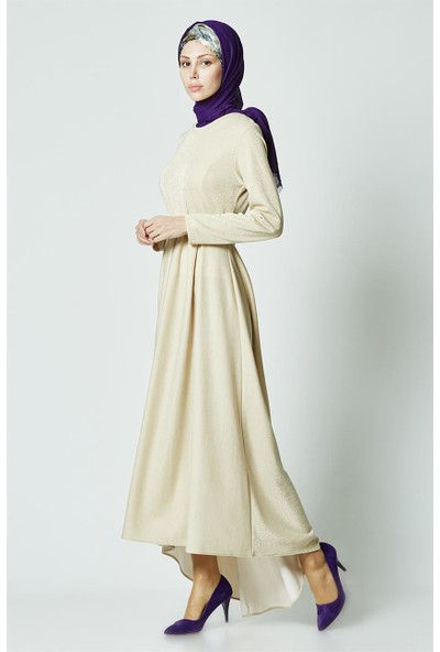 Butik Melina Elbise-Bej 2365-11