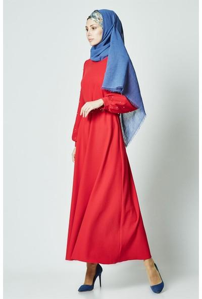 Butik Melina Elbise-Kırmızı 2371-34