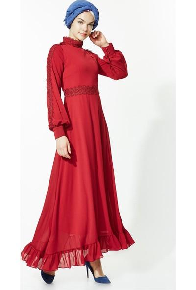 Mood Elite Elbise-Kırmızı LR2682-34