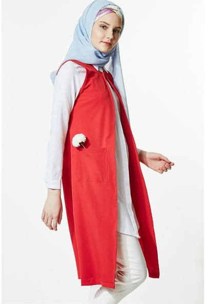 Butik Melina Yelek-Kırmızı 2192-34