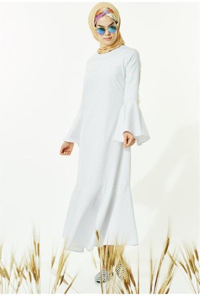 Butik Melina Elbise-Gri 2405-04