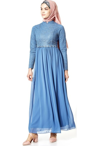 Mood Elite Elbise-İndigo LR2655-83