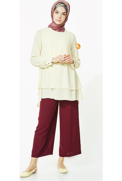 2niq Bol Paça Pantolon-Mürdüm MS700-51