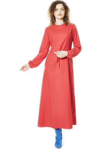 Butik Melina Elbise-Kırmızı 2493-34