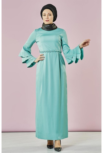 Armine Abiye Elbise-Mint 7Y9355-24