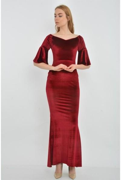 Espenica 3954 Zeyno Kadife Elbise Düğün Nişan Kına Nikah Abiye Mezuniyet