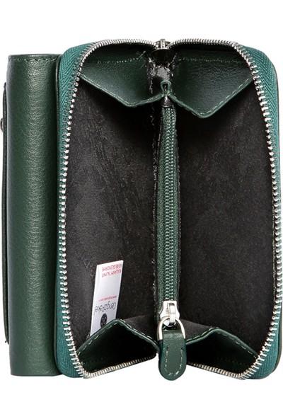 Cengiz Pakel Deri Kadın Cüzdan 65120 - Yeşil