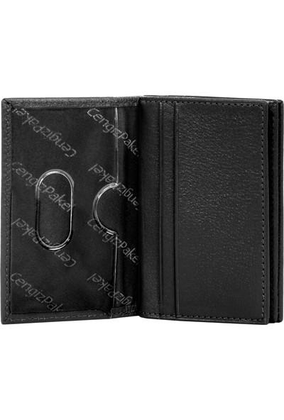 Cengiz Pakel Deri Kartlık 2305 - Siyah