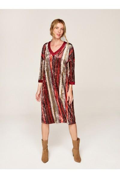 Faik Sönmez Kadın Kadife Elbise 37250