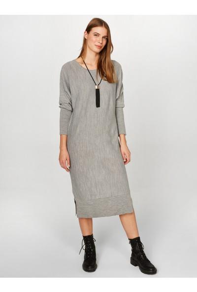 Faik Sönmez Kadın Uzun Kollu Triko Elbise 37952