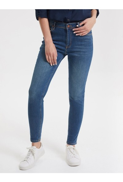 Loft Lf2018630 Kadın Nicole Arya Green Wash W Denim Pantolon Arya Green Wash