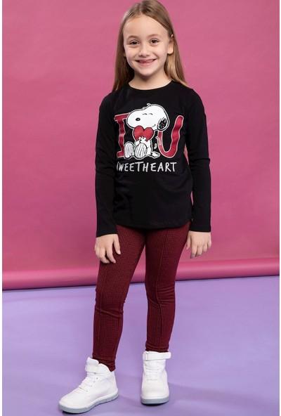 Defacto Kız Çocuk Elastik Belli Jakarlı Kareli Slim Fit Pantolon
