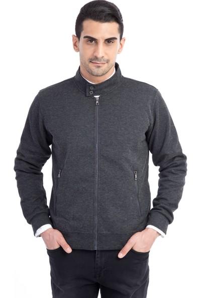 Kiğılı Fermuarlı Slim Fit Sweatshirt