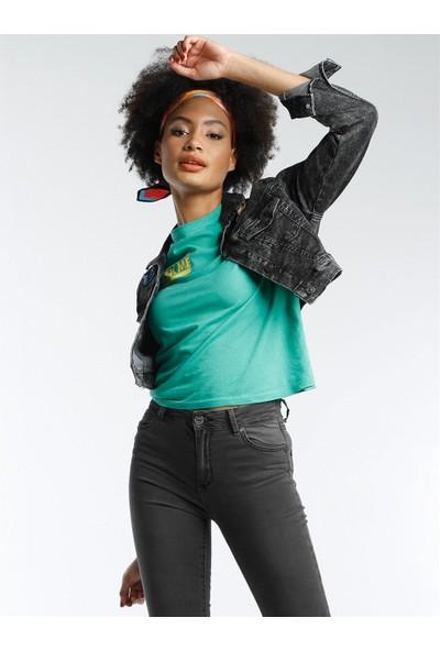Twister Jeans Kadın Kot Ceket Lıla J11-01