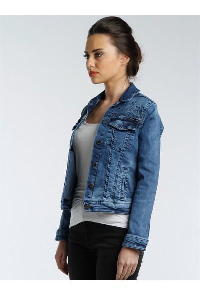 Twister Jeans Kadın Kot Ceket J18-01