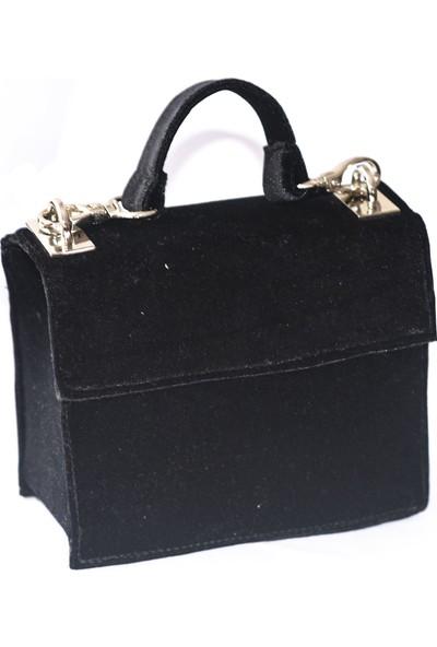 Kavshak Siyah Mini Çanta