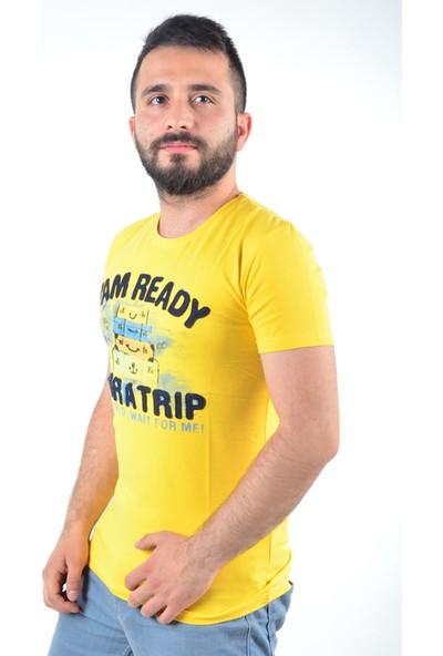 Marcoroni Yazı Baskılı Sarı Tshirt