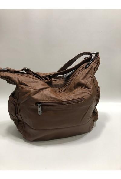 Kavi Uzun Askılı Postacı Çanta Yıkanmış Deri Büyük Boy Ebat 35 Cm30Cm