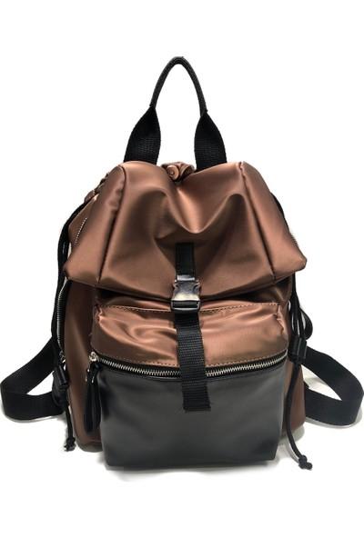 Nas Paraşüt Kumaş Sırt Ve Elde Tutmalı Çanta Ebat 35Cm30Cm Bakır Renk