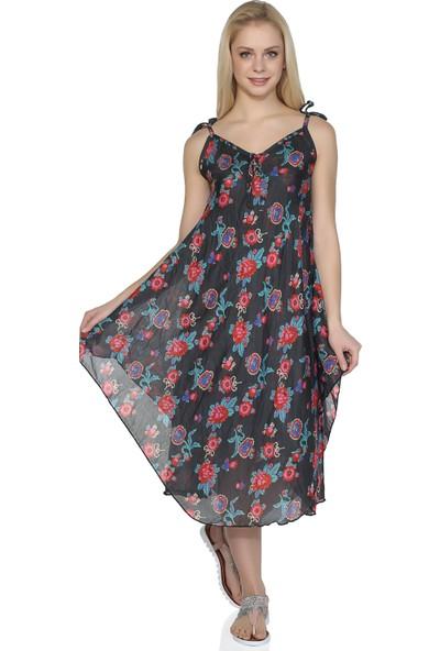 Eliş Şile Bezi Afrodit Elbise(Gül Desen)