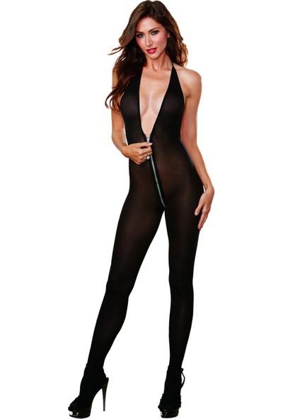 VB Butik Vb Butik Fantezi Fermuarlı Seksi Vücut Çorabı Sexy Fantazi İç Giyim