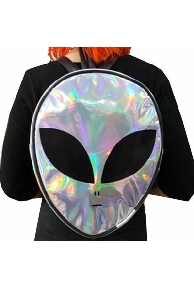 Modaroma Alien Hologram Yüzey Sırt Çantası